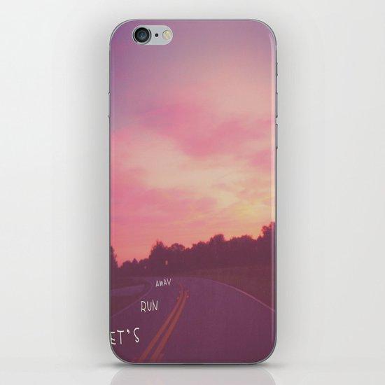 run away road iPhone & iPod Skin