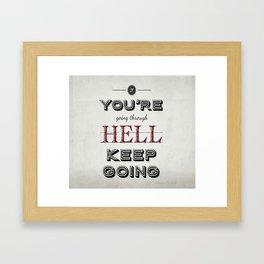 Churchill Quote Framed Art Print