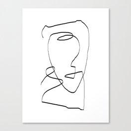 Abstract head, Minimalist Line Art Canvas Print