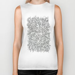 Black Growth Biker Tank