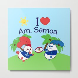 Ernest & Coraline | I love American Samoa Metal Print