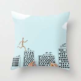 my art city Throw Pillow