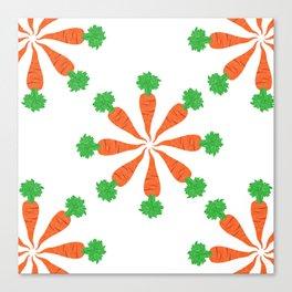 pattern carrot Canvas Print
