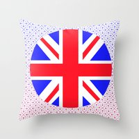 uk Throw Pillows featuring UK by the power of Mars