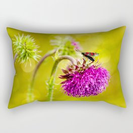 Butterfly and а thistle Rectangular Pillow