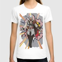 lichtenstein T-shirts featuring Assassisn Creed Ezio with a Roy Lichtenstein background by Peter Brown