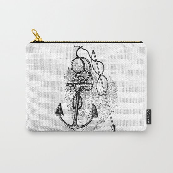Anchor and harpoon. Carry-All Pouch