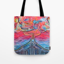Thought Eruptions Tote Bag