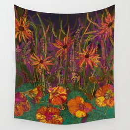 You Can Get By (Autumn Flowers) Wall Tapestry