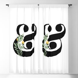 Ampersand Floral Blackout Curtain