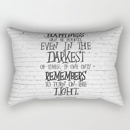 Albus Dumbledore Quote Inspirational Rectangular Pillow