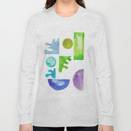 8 | Steady | 181111 November 2018 Shapes Studies | Watercolour Abstract Long Sleeve T-shirt