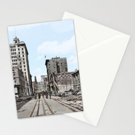 San Francisco Devastation c.1906 - Colourised Stationery Cards