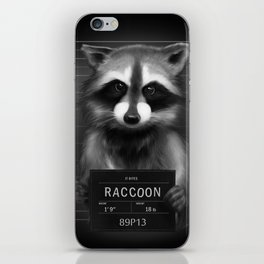 Raccoon Mugshot iPhone Skin