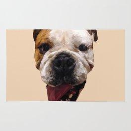 Bulldog low poly. Rug