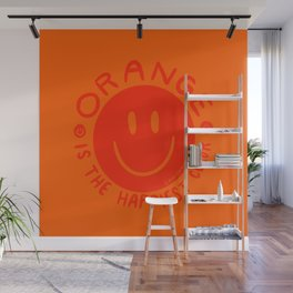 Orange is the Happiest Color Wall Mural