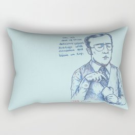 Anchorman: One of Those Delicious Falafel Hotdogs Rectangular Pillow