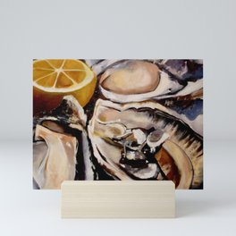 Oysters & Lemon Mini Art Print