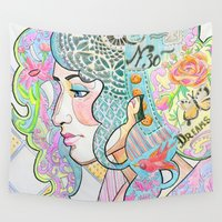 shabby chic Wall Tapestries featuring Shabby Chic by Thea Maia