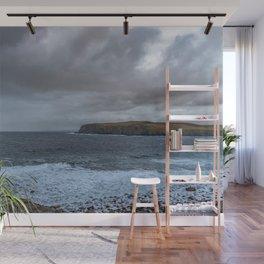 Grey day at Portskerra, Melvich Bay in Sutherland, Highland, Scotland Wall Mural