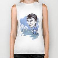 spock Biker Tanks featuring spock by ElenaTerrin