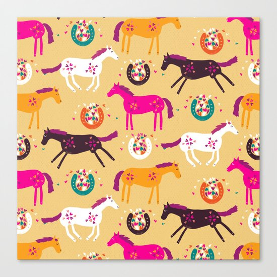 Lucky Horses Canvas Print