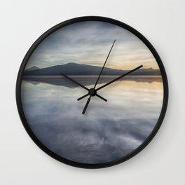 Sunset at Agency Lake, No. 1 Wall Clock