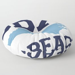Kure Beach - North Carolina. Floor Pillow