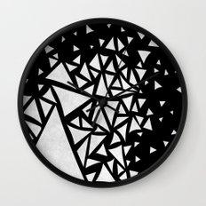 B&W geometric  pattern 02 Wall Clock