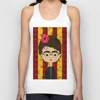 potter Tank Tops featuring Frida Potter by Camila Oliveira