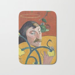 Self-Portrait with Halo and Snake by Paul Gauguin Bath Mat