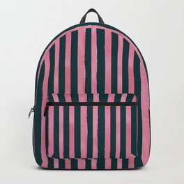 Pink and Emerald Watercolor Stripes Backpack