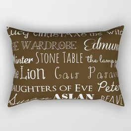 Narnia Celebration - Mocha Rectangular Pillow