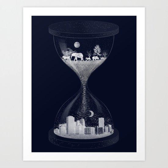 Sand Timer Art Print
