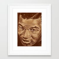 mike wrobel Framed Art Prints featuring mike by noblackcolor
