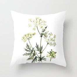 watercolor dill Throw Pillow