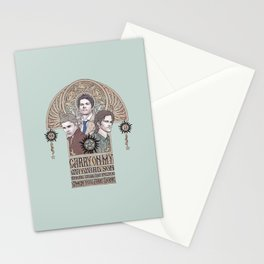 Carry On My Wayward Son (Castiel, Sam and Dean Winchester) Stationery Cards