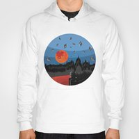 budapest Hoodies featuring Budapest Super Moon by Andras Wobe Kocsis