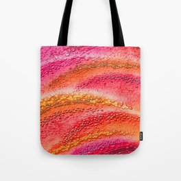 Rote Wellen - Red waves Tote Bag