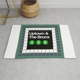 subway bronx sign Rug