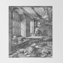 Saint Jerome in His Study by Albrecht Dürer Throw Blanket