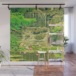 The Waterfall and the Lily Pond Wall Mural