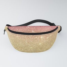 Pink abstract gold ombre glitter Fanny Pack