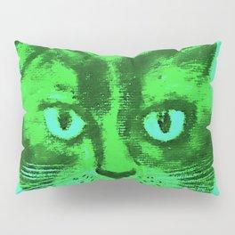 green head cat Pillow Sham
