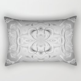 elegant silver Digital pattern with circles and fractals artfully colored design for house Rectangular Pillow
