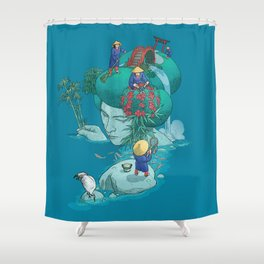 Landscaping Shower Curtain