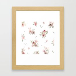 Romantic and delicate flowers Framed Art Print