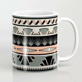 art deco stripes - salmon Coffee Mug