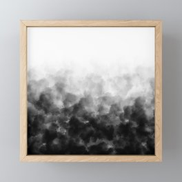 Ombre Smoke Clouds Minimal Framed Mini Art Print