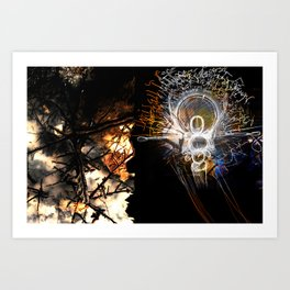Vibrating Thought Affects the Physical Art Print